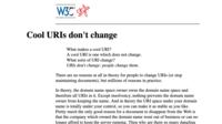 Capture: Cool URIs don't change