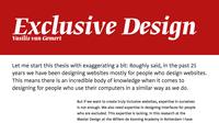 Capture: Exclusive web design