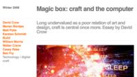 Capture: Magic box: craft and the computer