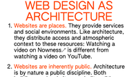 Capture: Le web design comme architecture